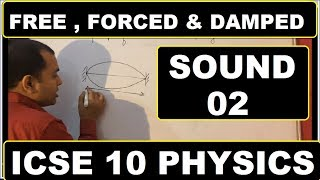 Sound 02 : Free ,Forced & Damped Vibrations : ICSE class 10