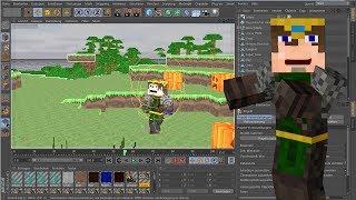 Minecraft Extruding Tutorial in Cinema 4D (C M R RIG) DEUTSCH/GERMAN