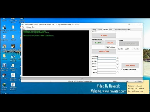 [Hovatek] How to write IMEI, Bluetooth & MAC address to a Spreadtrum device using Infinity CM2SPD