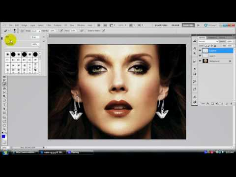 Photoshop Tutorial: Add ear-rings to lady