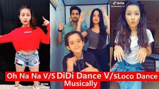 Oh Na Na Dance V/s Didi Dance V/S Loco Challenge Musically   Avneet Captain Nick, Aashika, Mrunal