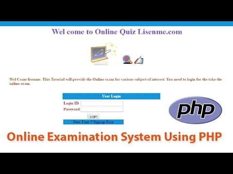 Online exam system using php & Mysql tutorial