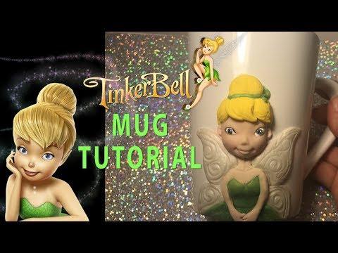 HOW TO MAKE TINKERBELL MUG TUTORIAL  | CLAY CRAFT  DIY | CLAY FIGURE | Cup n Cakes Gourmet