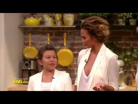 Chrissy Teigen Cooks With Her Mini Me!