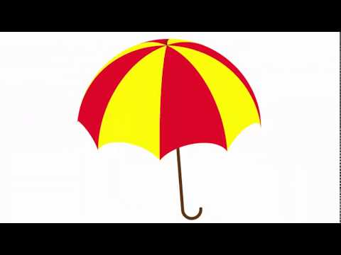 Umbrella - Adobe Illustrator cs6 tutorial. How to draw simple parasol or sunshade