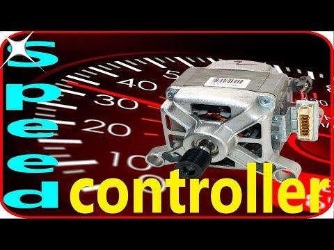 Washing machine motor speed control circuit