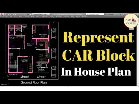 How to Represent Car block Top Elevation in 2D Drawing Plan in Autocad || Toolpalettes | Adcenter