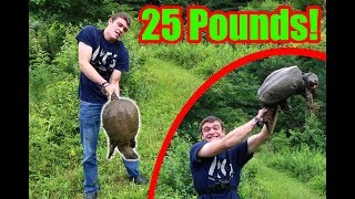 Download WE CAUGHT OUR PB SNAPPING TURTLE! (25 Pounds) Video
