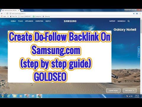 Create Do-Follow Backlink On Samsung.com (step by step guide) GOLDSEO