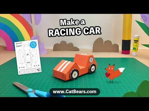 Make a paper racing car - that drives