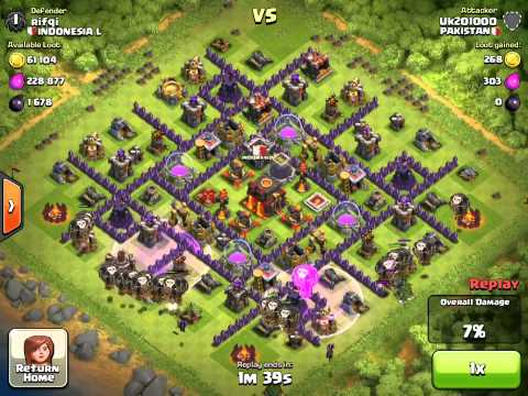 UK201000 Champion League Attack - Max Balloons and Minions - Clash of Clans