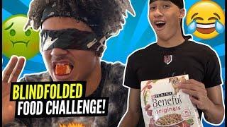 Ballislife Blindfold Food Challenge RJ Hampton Vs Jalen Wilson