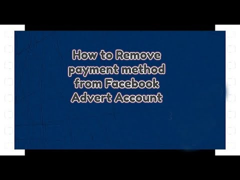 How to remove payment method from facebook