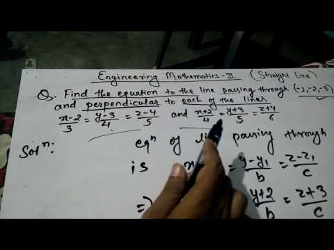 Straight Line equation with given point and parallel to other two lines | Engineering Mathematics