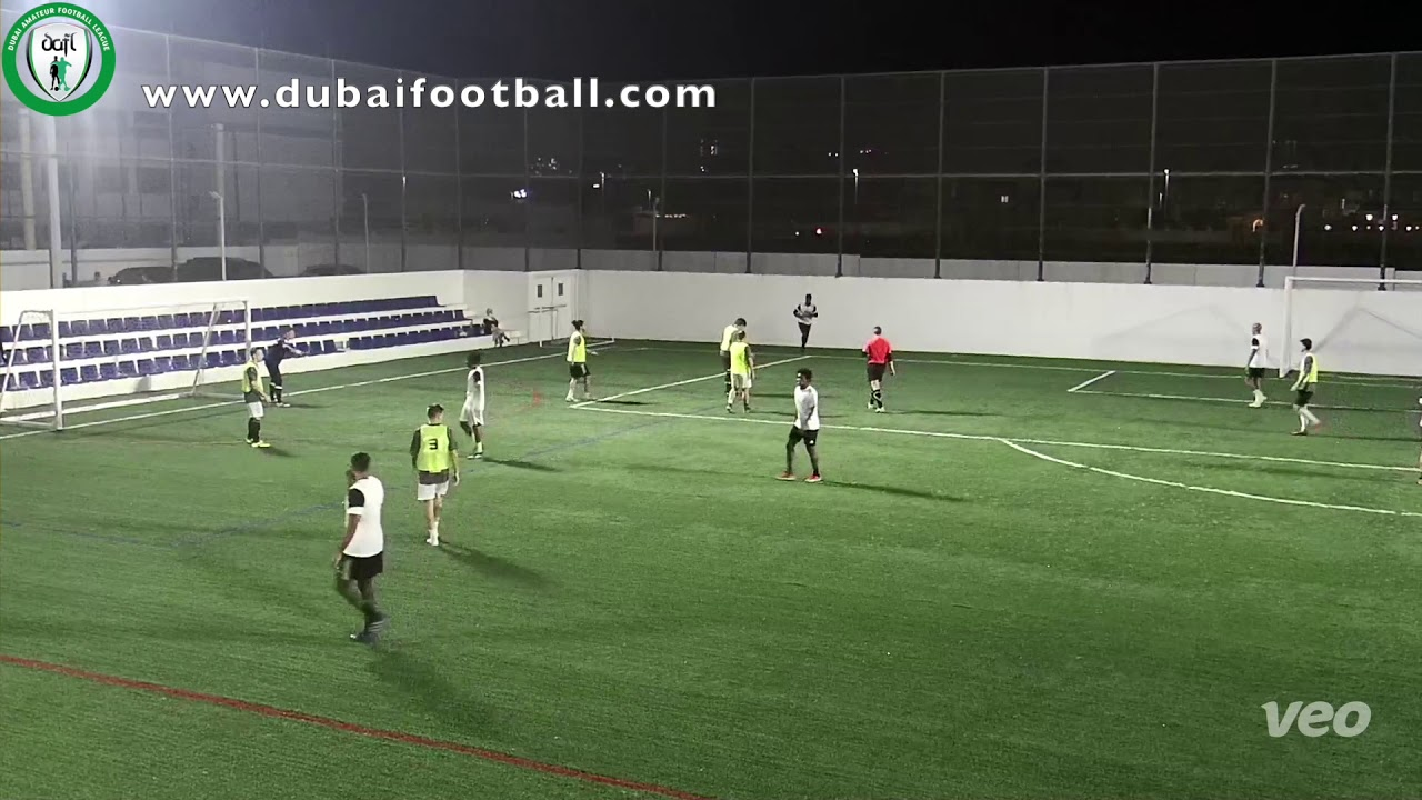 Dynamo v Amigos FC - DAFL Winter 7 a side. EPL- League Week 5 www.dubaifootball.com