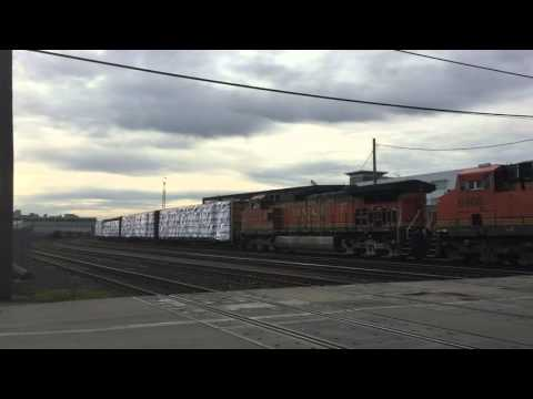 Amtrak and BNSF trains in South Seattle
