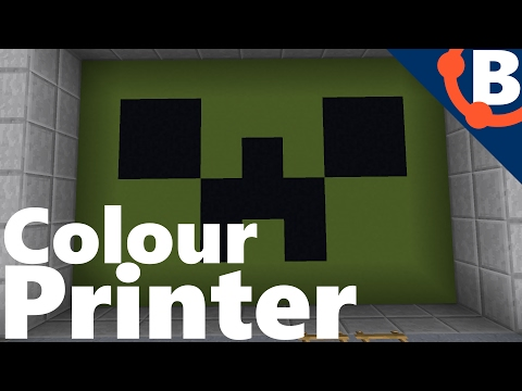 Working Colour Printer in Survival Minecraft !!! [Response to Mumbo Jumbo] | Redstone 17w06a