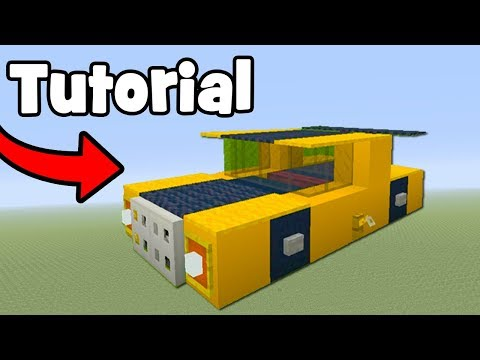 Minecraft Tutorial: How To Make Bumblebee (Car)