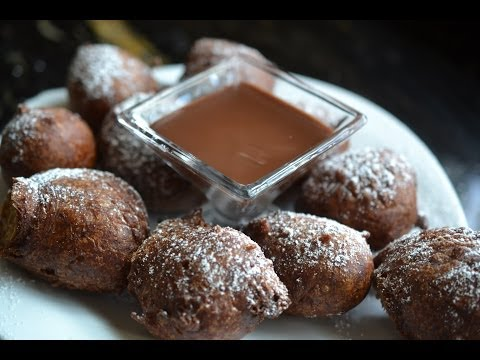 CHOCOLATE BANANA FRITTERS
