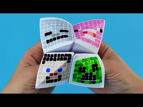 Minecraft Paper Fortune Teller Step by Step Tutorial | Chatterbox DIY