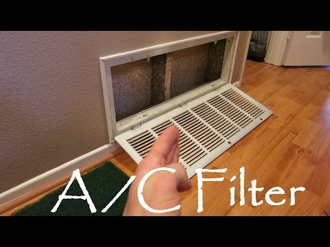 How To Replace Your Home Condo Apartment A/C Filter