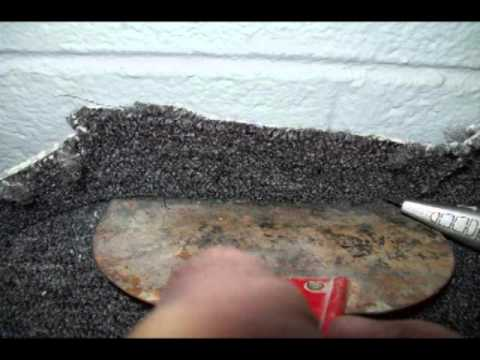 Gluing carpet to concrete, best free video
