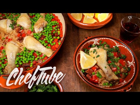 How to Make Paella With Chorizo and Chicken Legs - Recipe in description
