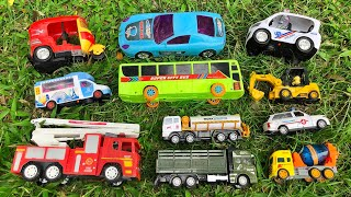 Looking for my favorite toy vehicles - Fire Truck, City Bus, Military Truck, Ambulance and others