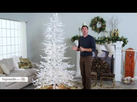 Flocked White Twig Tree Pre-Lit Full Christmas Tree - Product Review Video