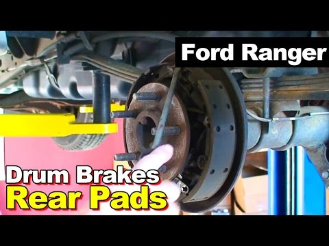 2003 Ford Ranger Pickup How To Remove Install Drum Brake Shoes Springs Same As 1995-2009