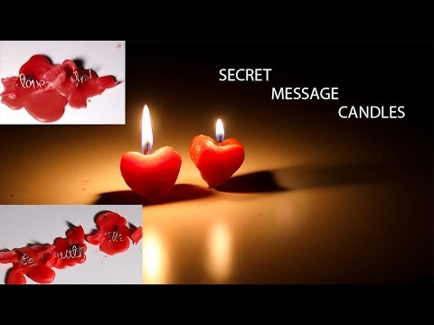 DIY MESSAGE CANDLES   CANDLES WITH DOUGH MOLD  VALENTINES DAY SPECIAL CANDLES  