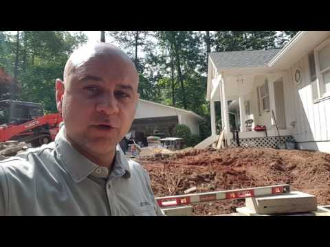 How to build a stack stone retaining wall