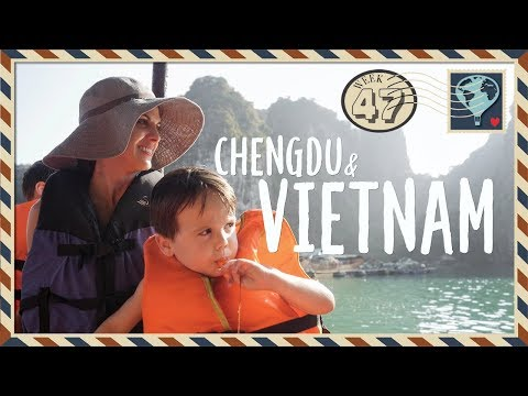 Chengdu & Vietnam 🇻🇳WEEK 47. We found PANDAS 🐼and HALONG BAY 🚢