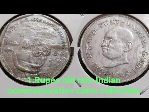 INDIA ONE RUPEE COMMEMORATIVE COINS OF INDIA