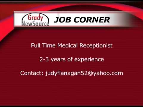 JOB CORNER: Medical Receptionist