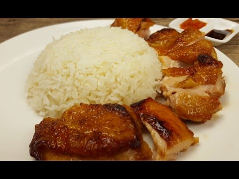 Hainanese Roasted Chicken Rice (海南烤鸡肉饭)