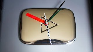 How to Turn YOUTUBE Silver Play Button into Amazing Wall Clock