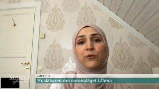 """Husläkaren om coronaläget i Järva - """"Segregationen gör att informationen in… - Malou Efter tio (TV4)"""