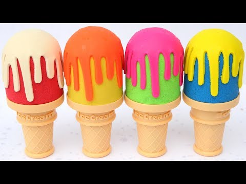 Learn Colors Kinetic Sand Ice Cream Surprise Toys Mad Mattr Kids Video