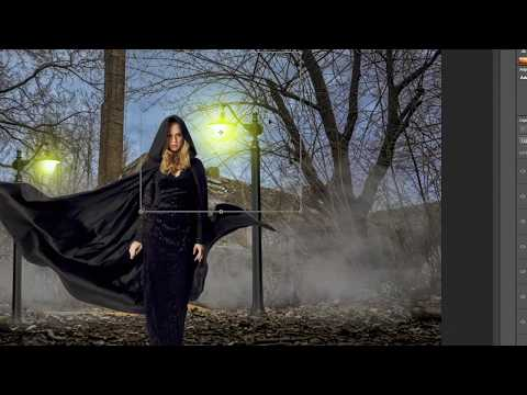 Dramatic Photoshop Manipulation Tutorial Black Angel Effect  - Smoke,Light l Photoshoptutvid