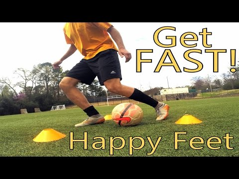 Soccer Speed and Agility training. How to get happy feet!