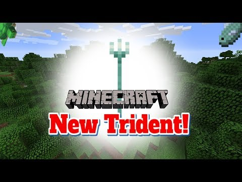NEW TRIDENT IN MINECRAFT | Playing with the new Minecraft 1.13 Snapshot!