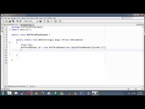 19.Inputting a float value in Java using BufferedReader.
