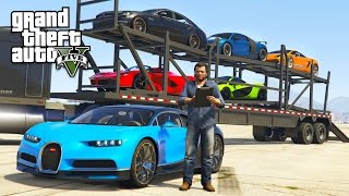 GTA 5 Real Life Mod #32 - TRANSPORTING EXOTIC SUPERCARS!! (GTA 5 Mods)