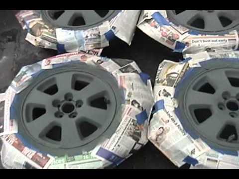 Refinishing beat-up alloy wheels