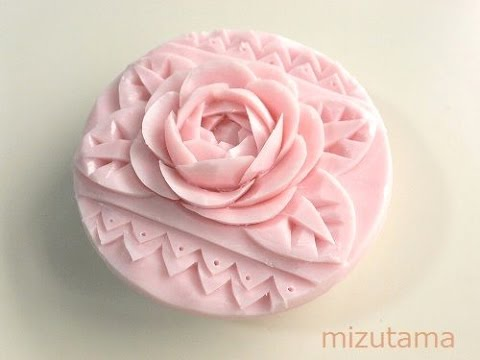 Soap carving tutorial for carving  a rose.(step 3)