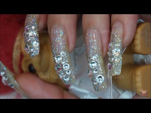 Rhinestone & Glitter Nail art