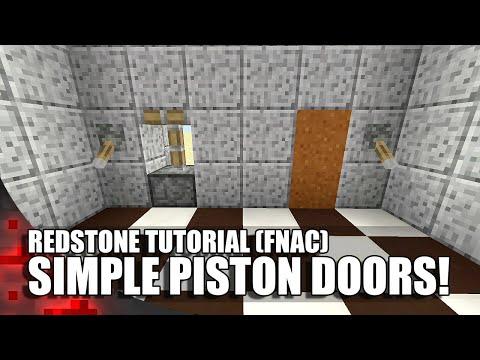 Minecraft: Simple Piston Doors! (FNAC)