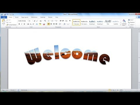 Microsoft word tutorial |How to Quickly Put an Image Inside Text in Word 2010