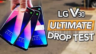 LG V30 ULTIMATE Durability Drop Test VS iPhone 8, Note 8!